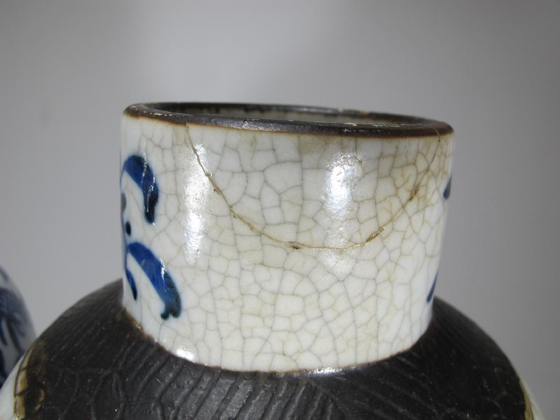 Pair of Chinese ceramic vases - 8