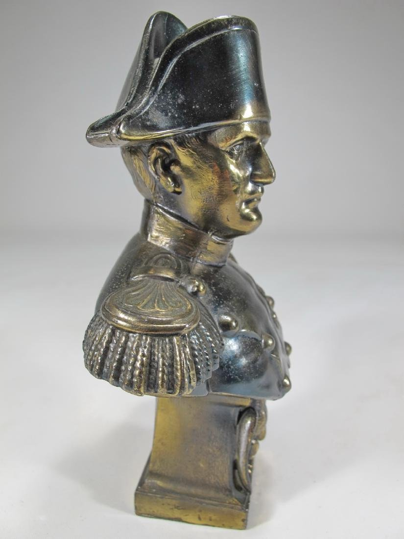 Antique French Napoleon spelter bust - 2