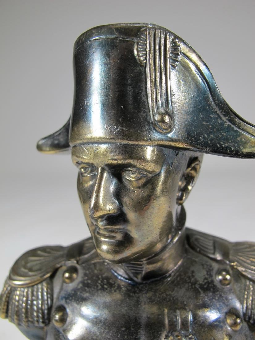 Antique French Napoleon spelter bust - 7