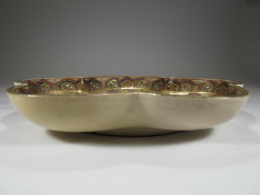 Rare antique Satsuma porcelain tray - 2