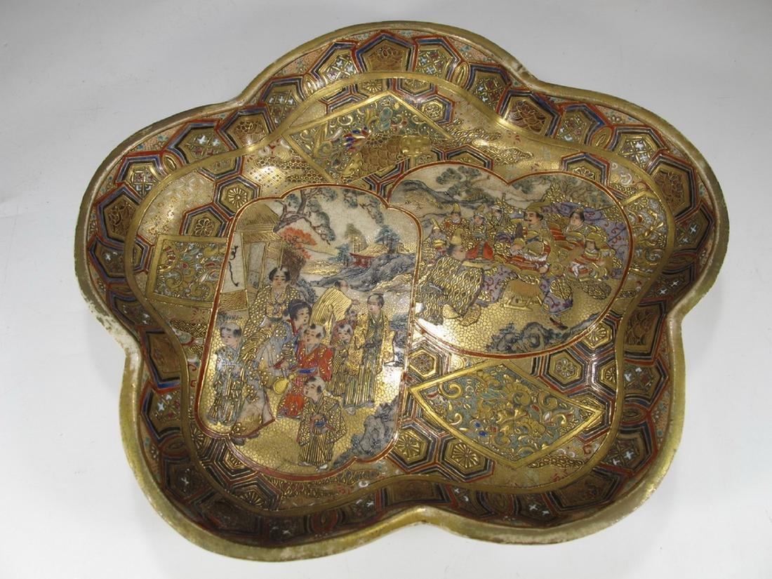 Rare antique Satsuma porcelain tray - 3