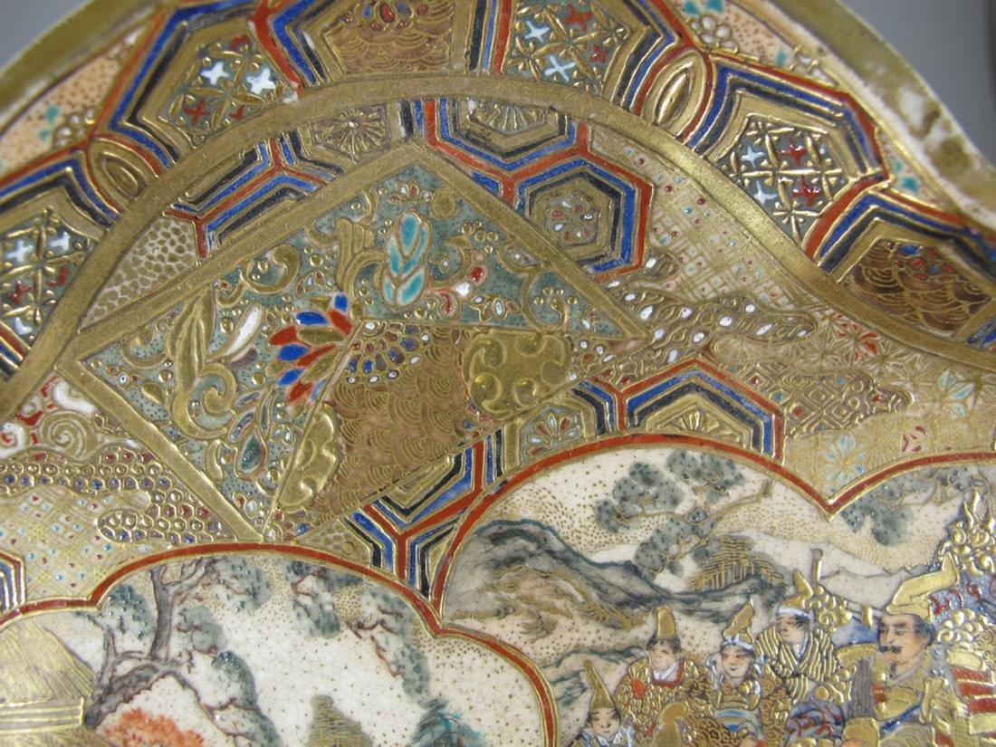 Rare antique Satsuma porcelain tray - 4