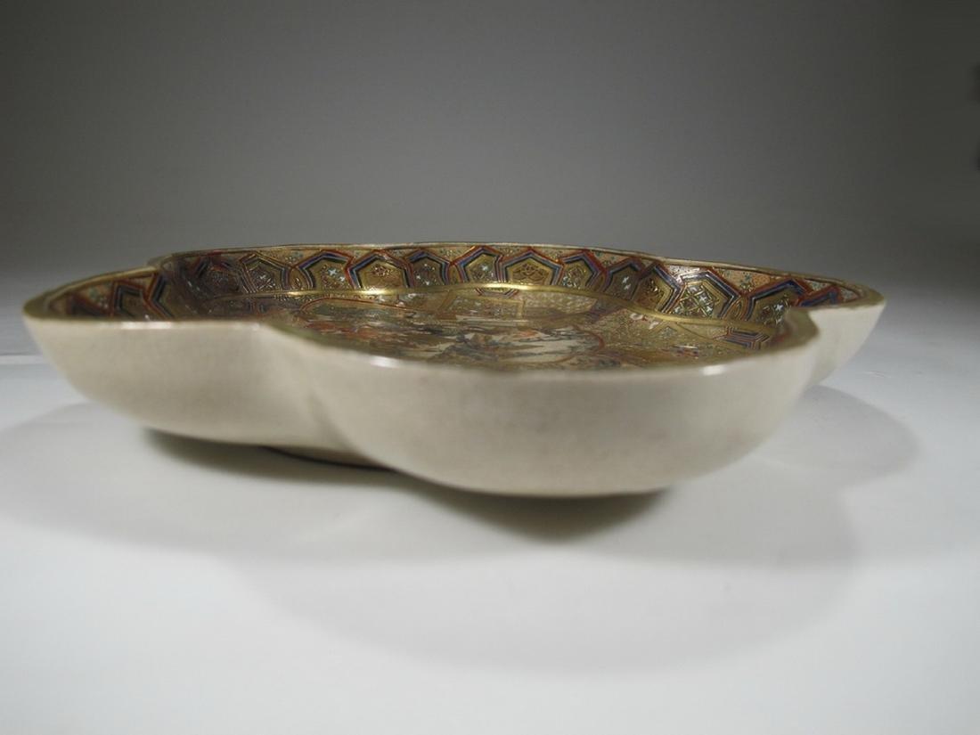 Rare antique Satsuma porcelain tray - 8