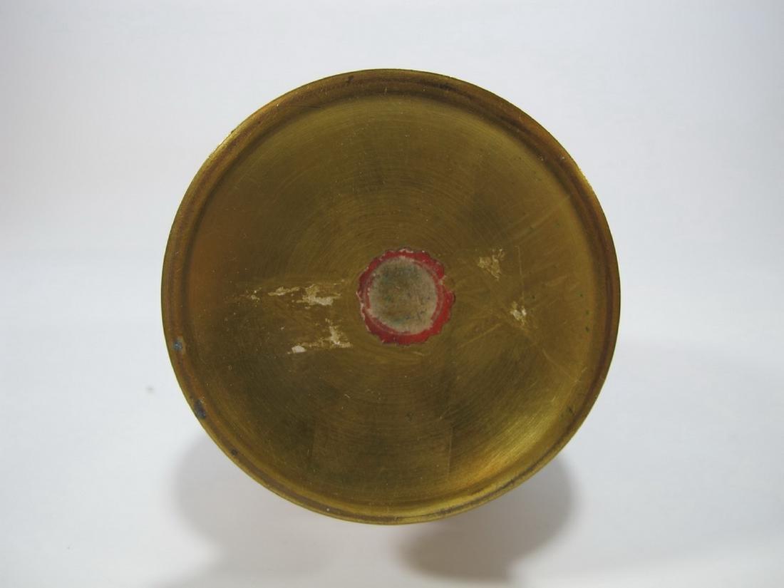 Antique French enamel signed vase - 6