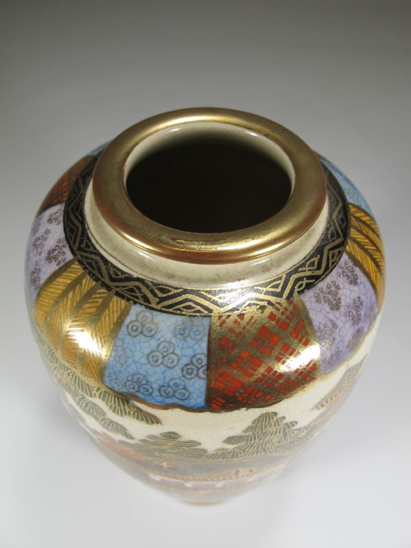 Antique Japanese Satsuma porcelain vase - 2