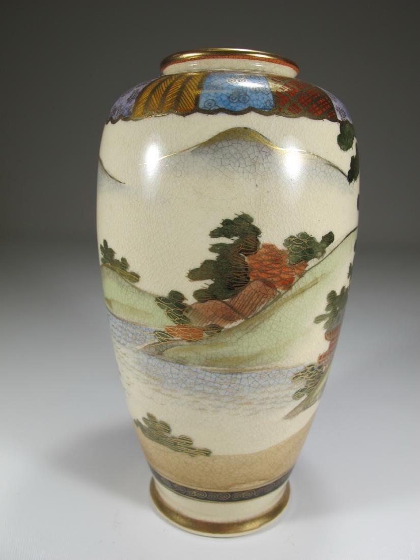 Antique Japanese Satsuma porcelain vase - 4
