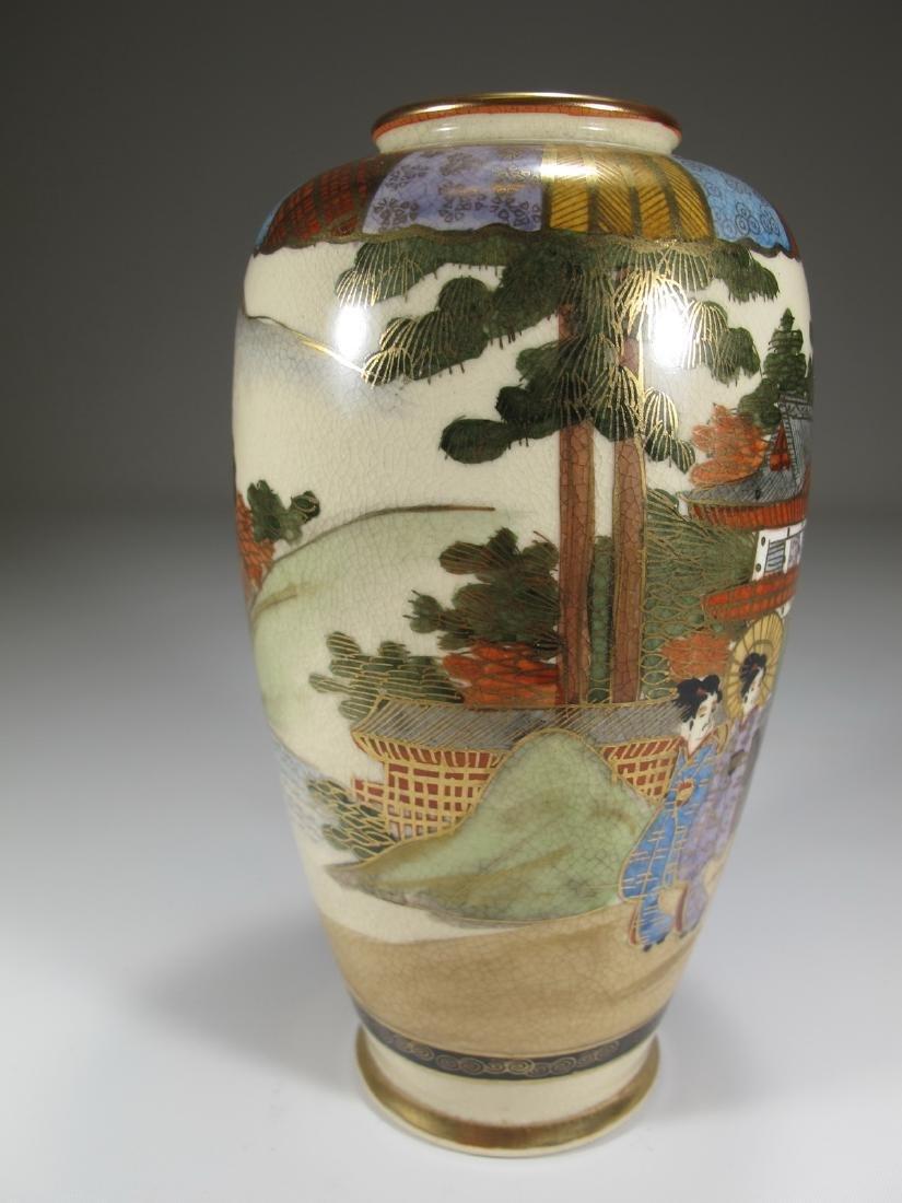 Antique Japanese Satsuma porcelain vase - 5