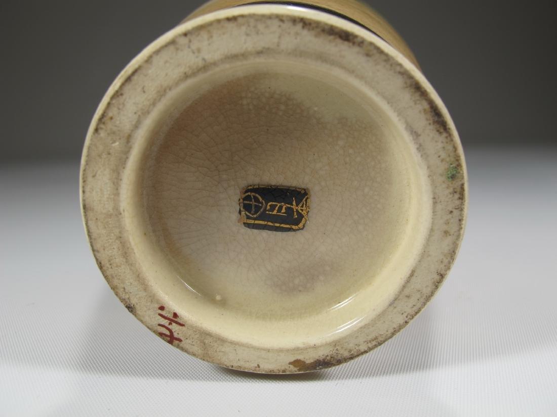 Antique Japanese Satsuma porcelain vase - 6