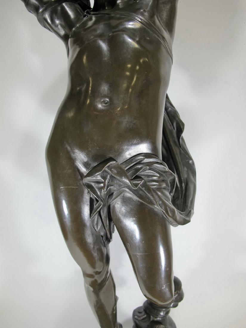 Hippolyte FERRAT (1822-1882) huge bronze sculpture lamp - 5