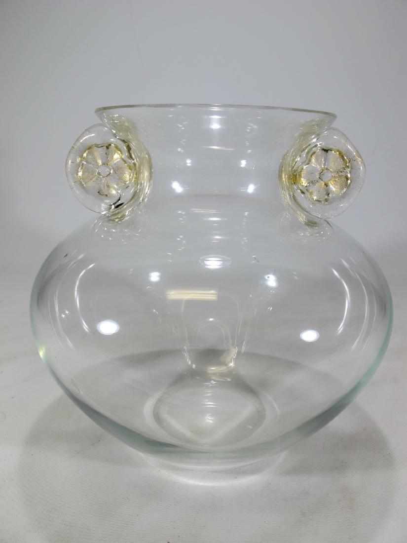 Italian Barlini murano vase, signed