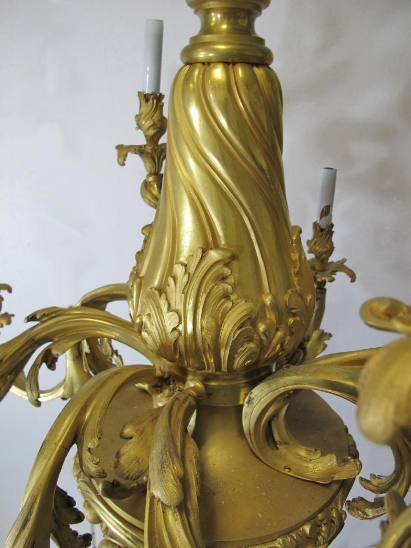 Huge antique French gilt bronze chandelier - 3