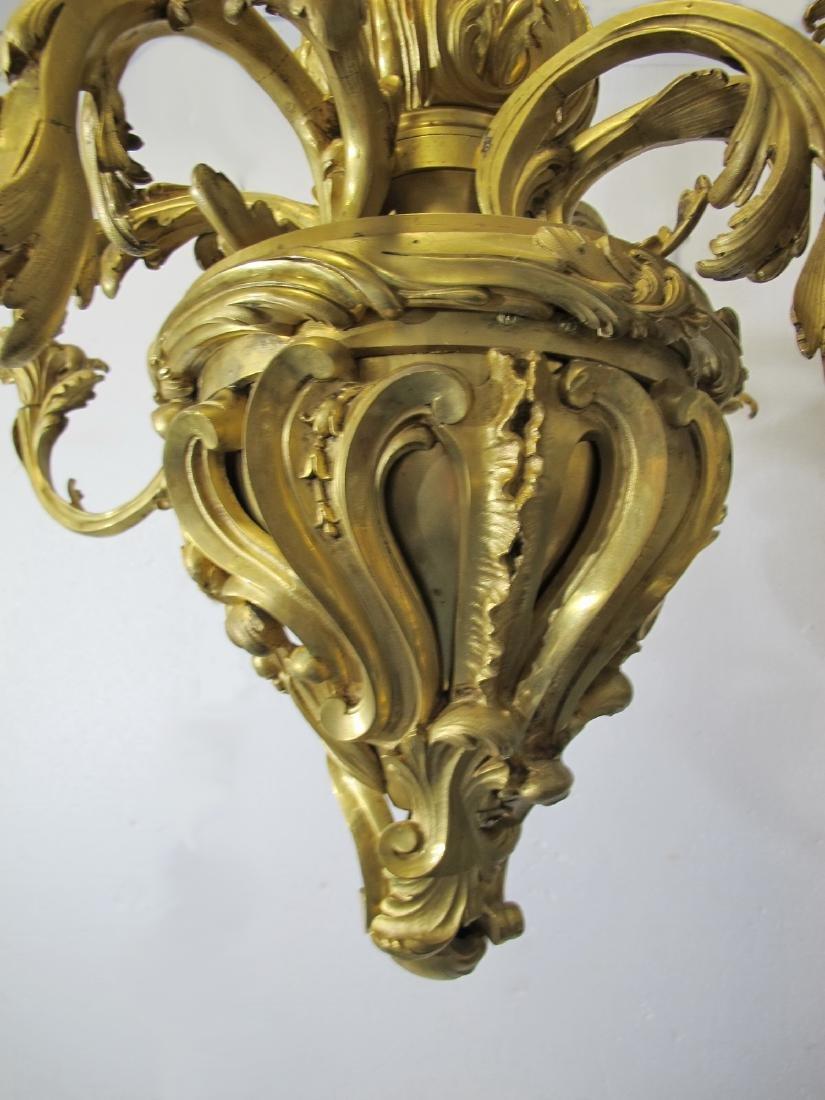 Huge antique French gilt bronze chandelier - 4