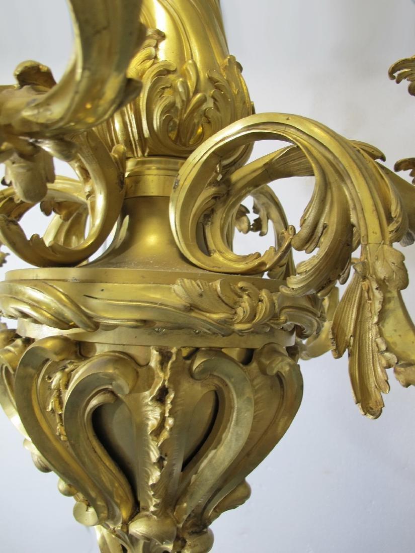 Huge antique French gilt bronze chandelier - 5