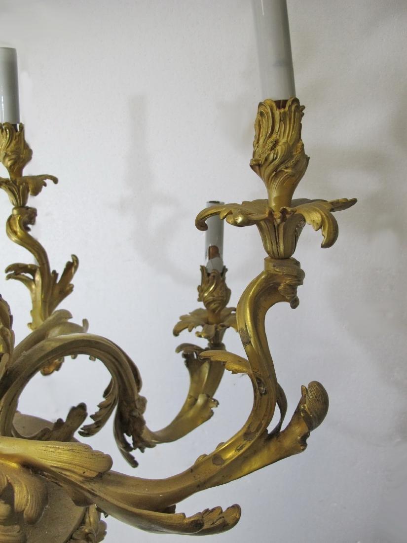 Huge antique French gilt bronze chandelier - 6