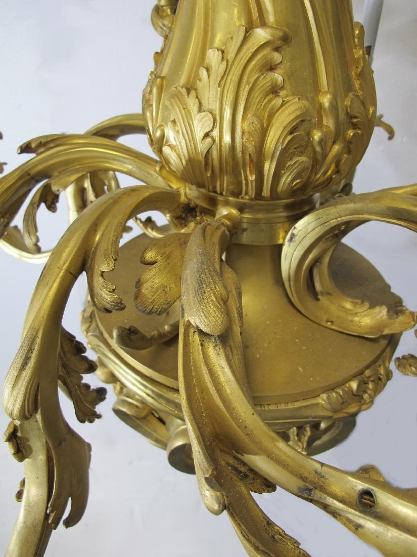 Huge antique French gilt bronze chandelier - 8