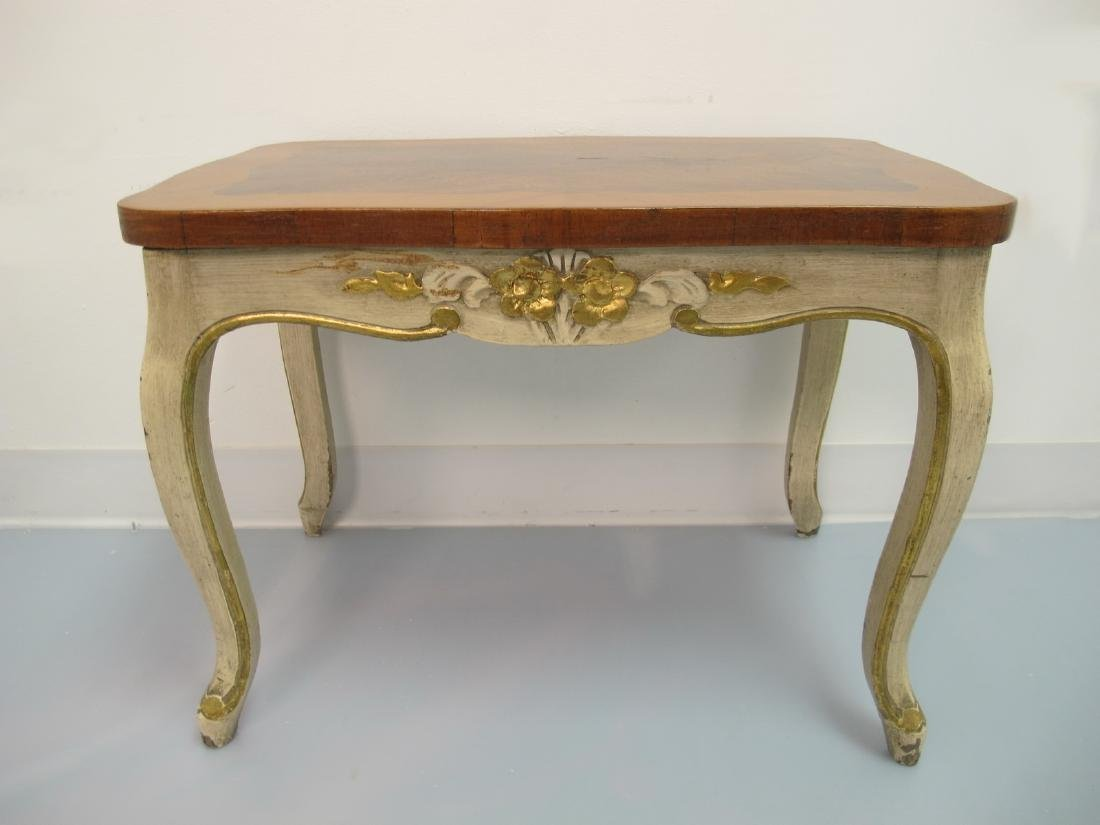 Vintage French Louis XV style patinated table - 2