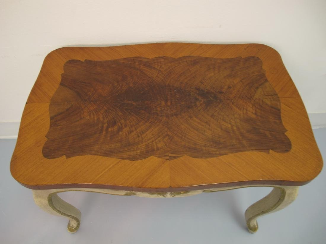 Vintage French Louis XV style patinated table - 3