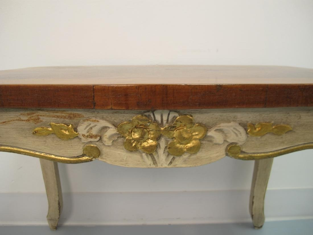 Vintage French Louis XV style patinated table - 4