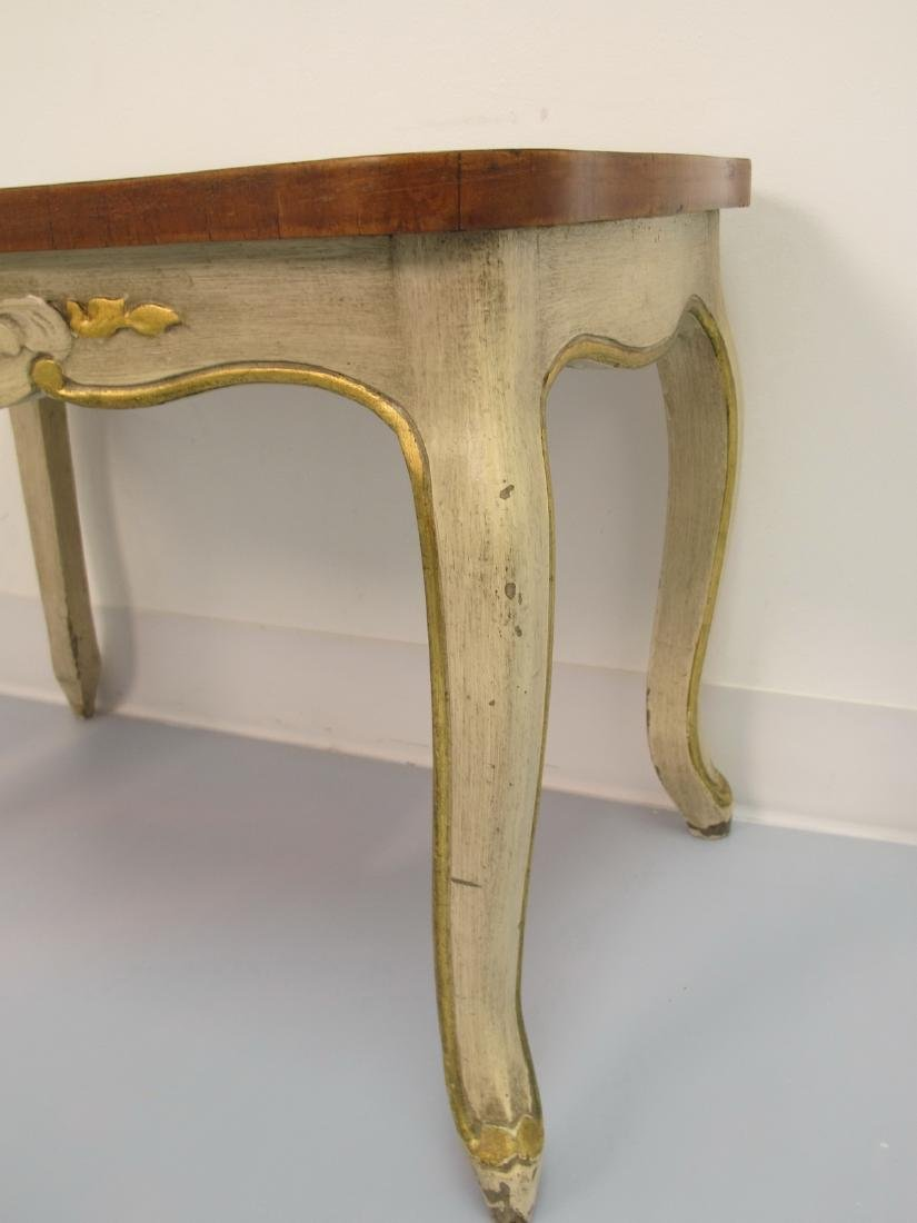 Vintage French Louis XV style patinated table - 5