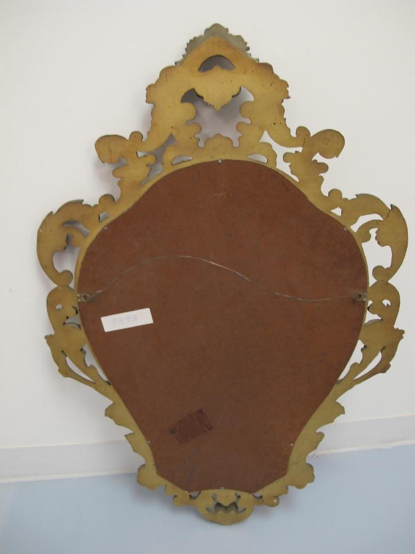 Vintage French Louis XV style gilt carved wood mirror - 7