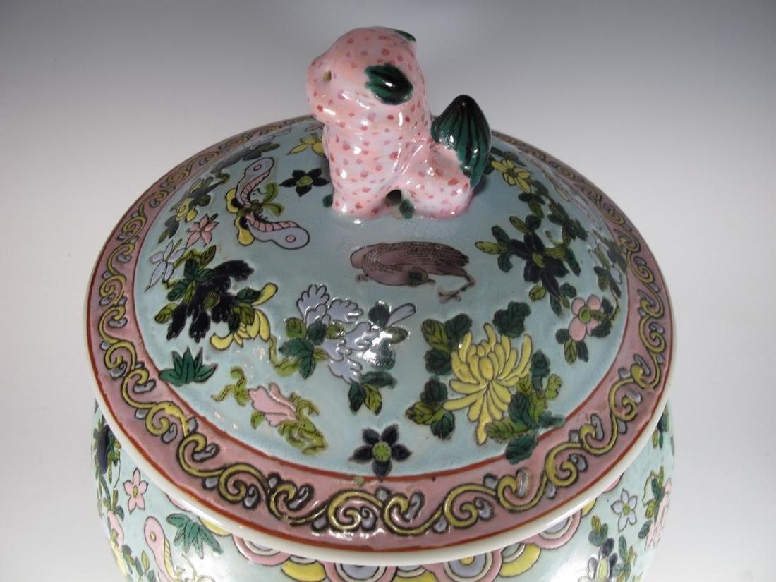 Vintage Chinese porcelain lided jar - 2
