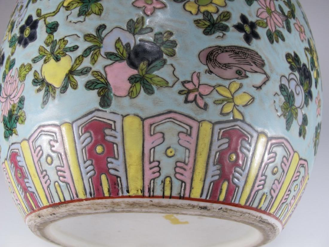 Vintage Chinese porcelain lided jar - 5