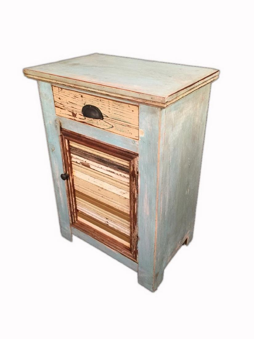 Pair of Unique Modern Rustic Style Nightstands - 4