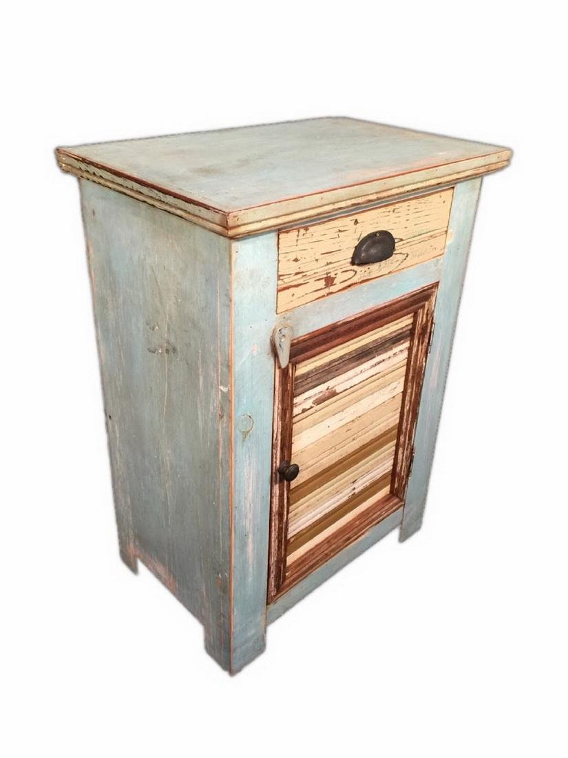 Pair of Unique Modern Rustic Style Nightstands - 5