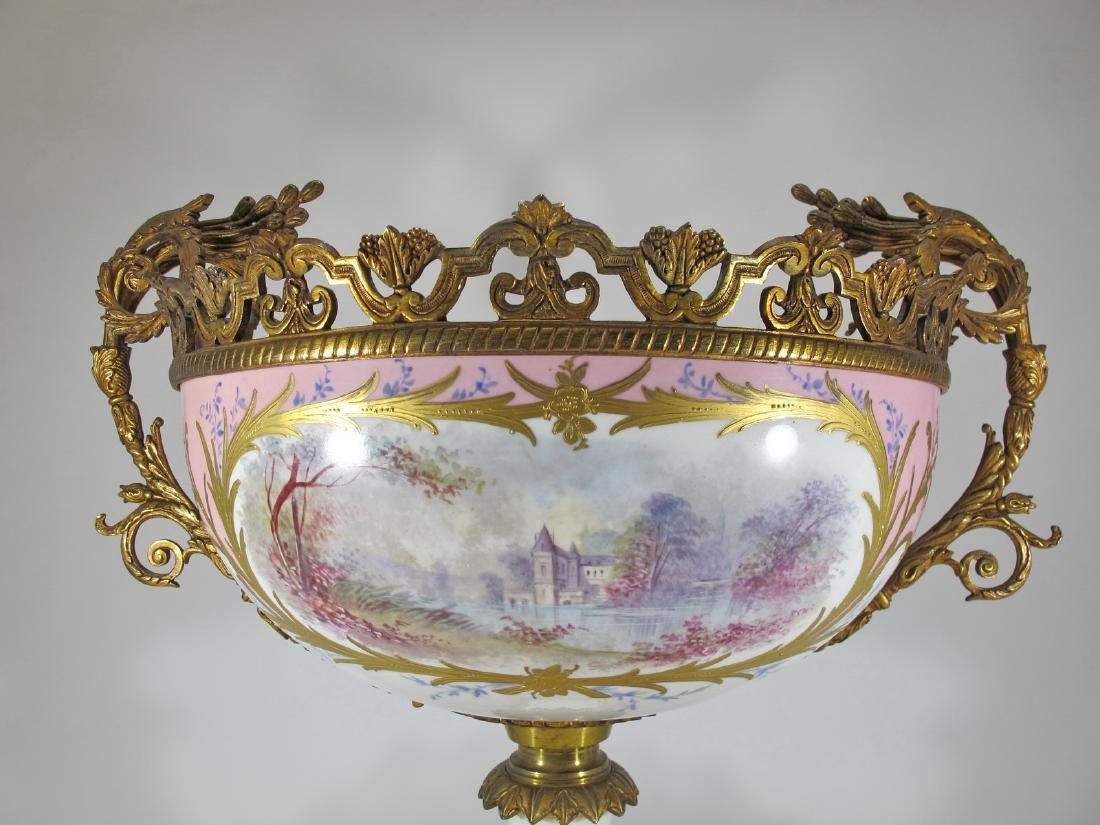 Huge antique French Sevres porcelain & bronze - 10