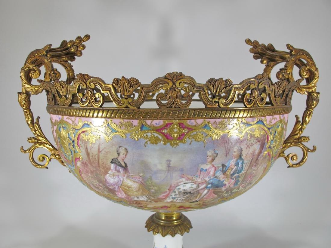 Huge antique French Sevres porcelain & bronze - 2
