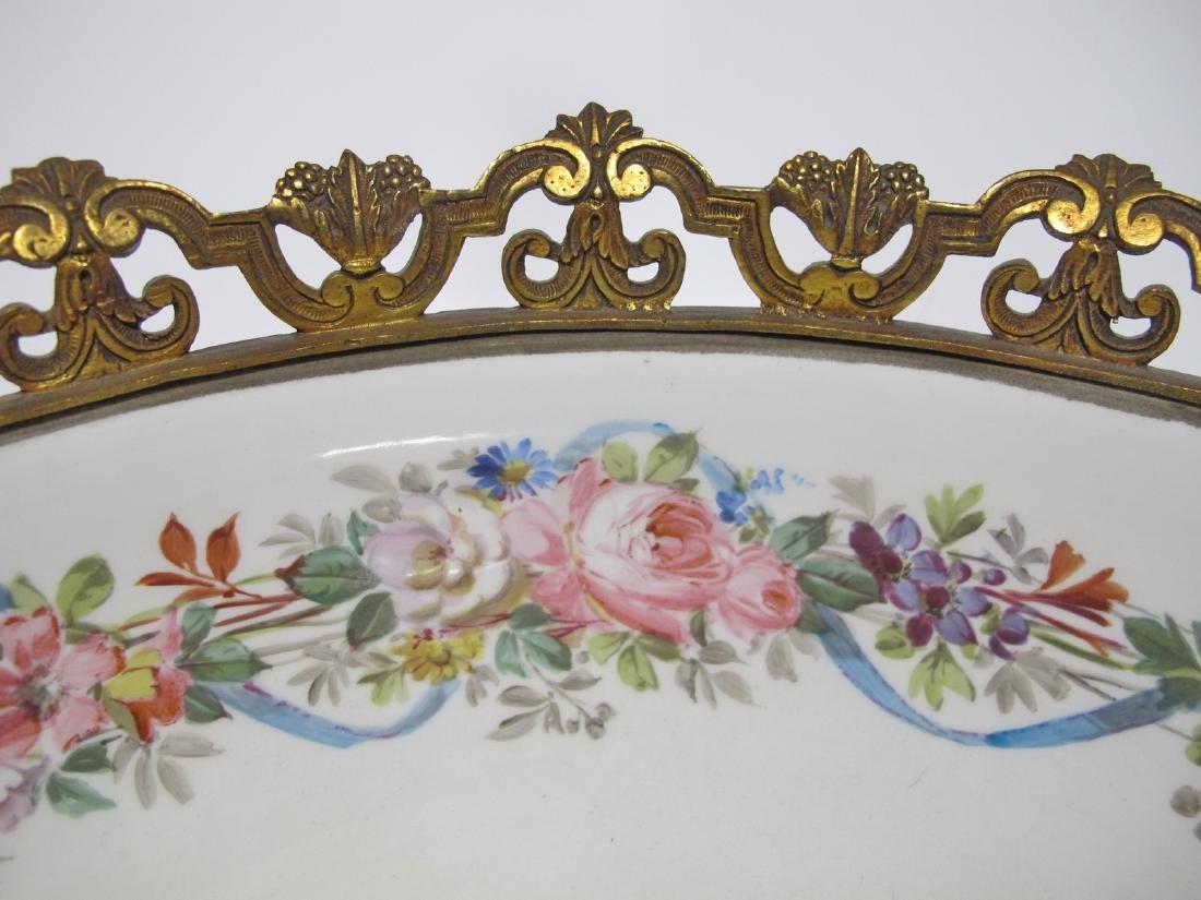 Huge antique French Sevres porcelain & bronze - 5