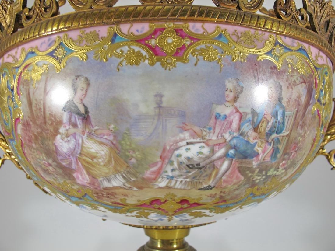 Huge antique French Sevres porcelain & bronze - 6