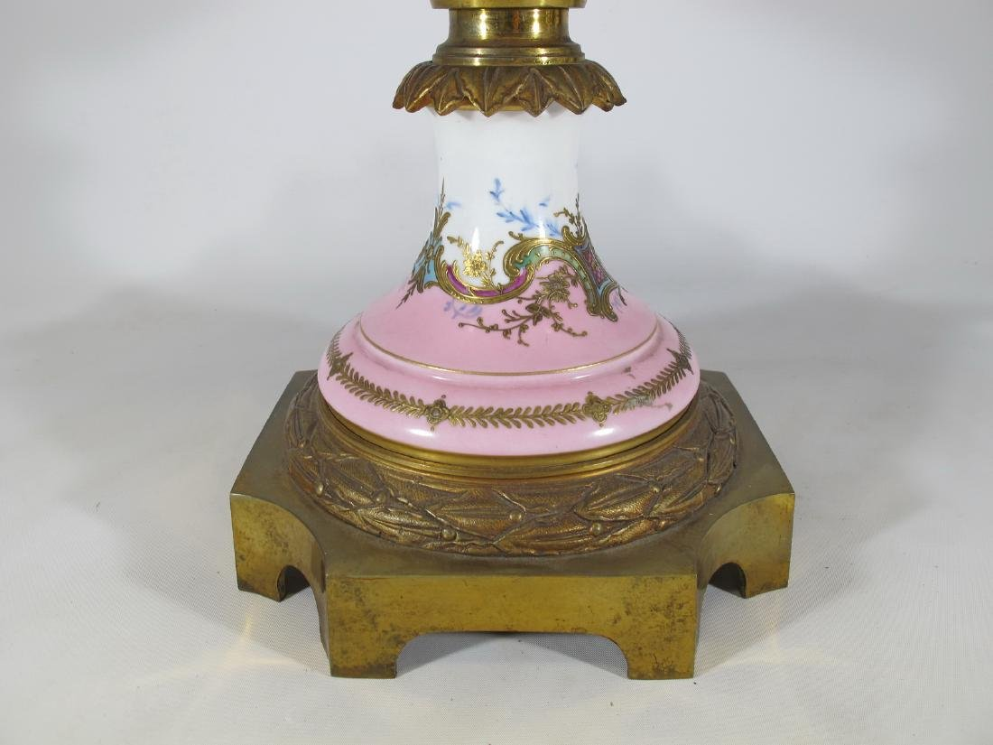 Huge antique French Sevres porcelain & bronze - 7