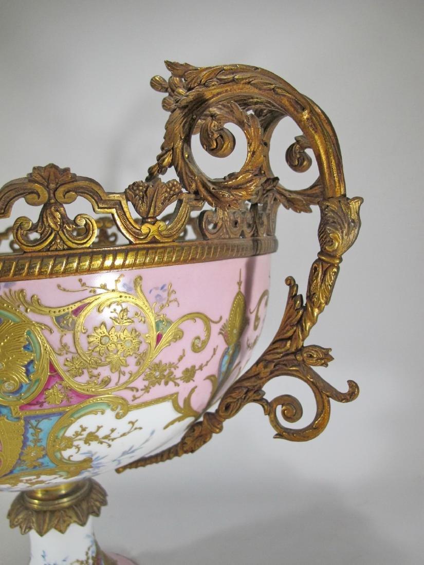 Huge antique French Sevres porcelain & bronze - 8