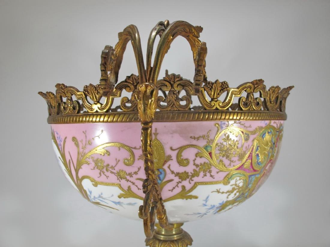 Huge antique French Sevres porcelain & bronze - 9