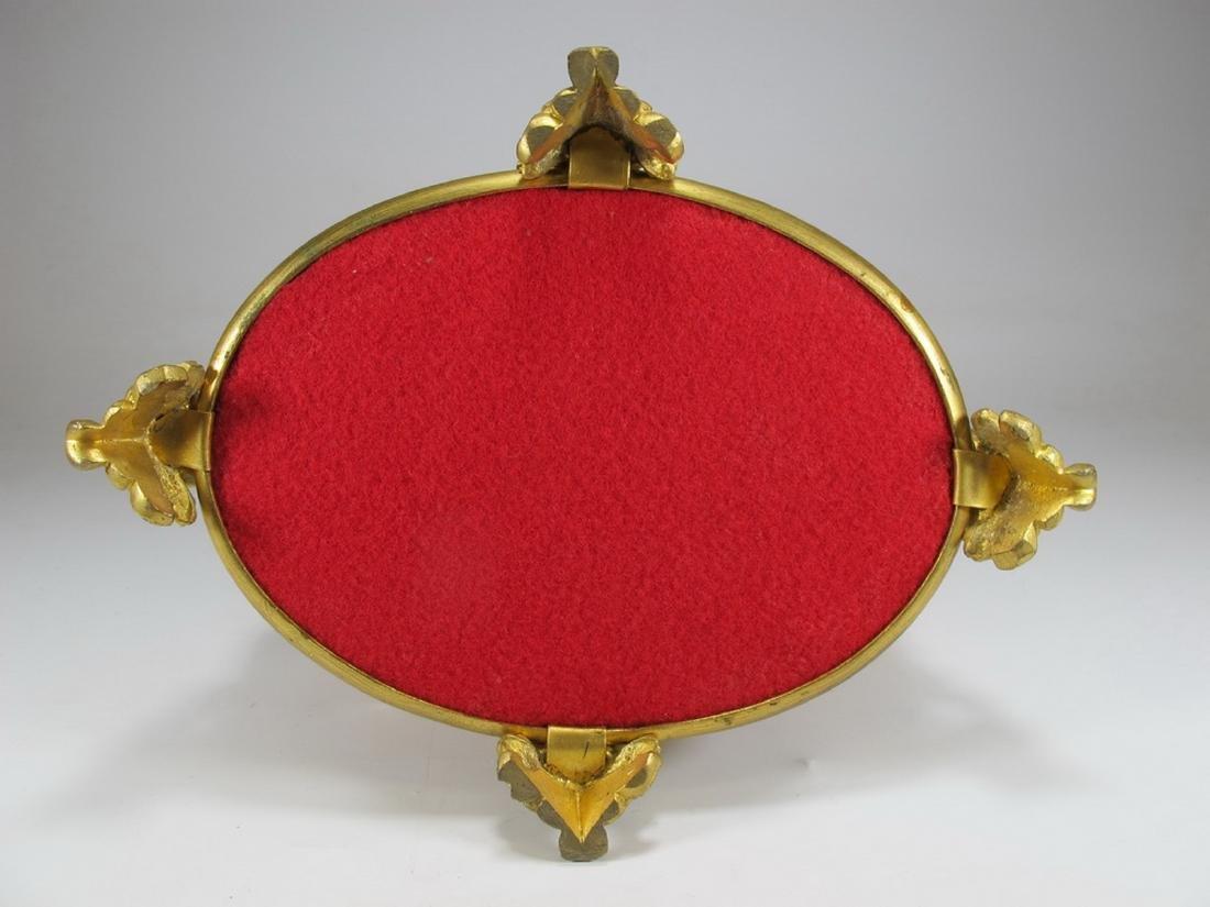 Antique French gilt bronze jewelry box - 9