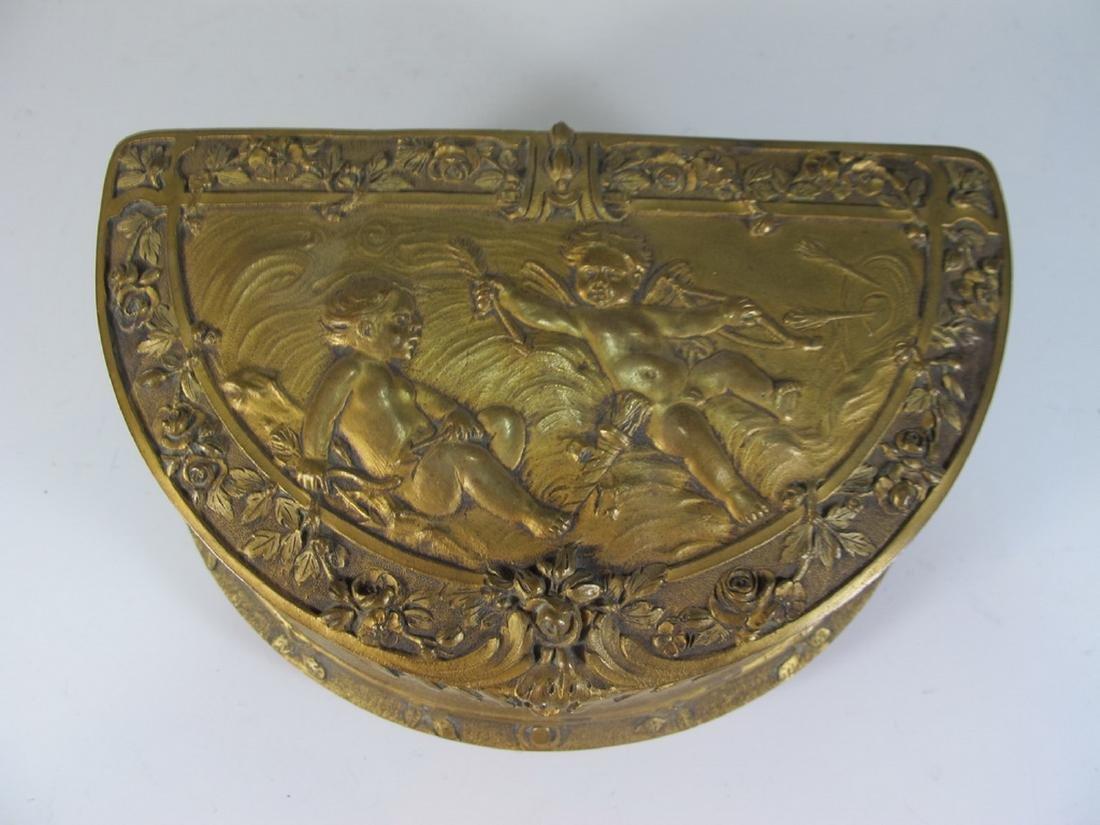 Antique French bronze jewelry box - 2