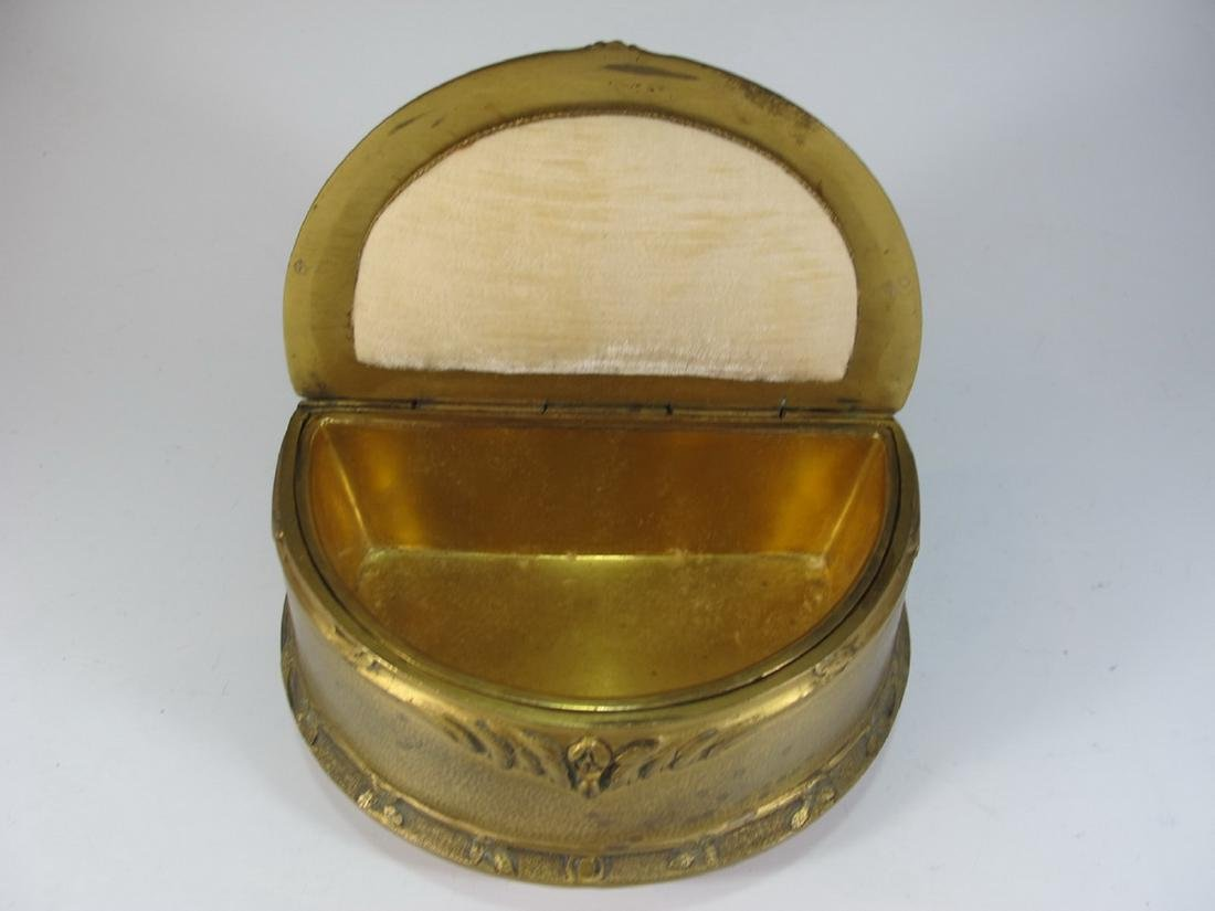 Antique French bronze jewelry box - 3