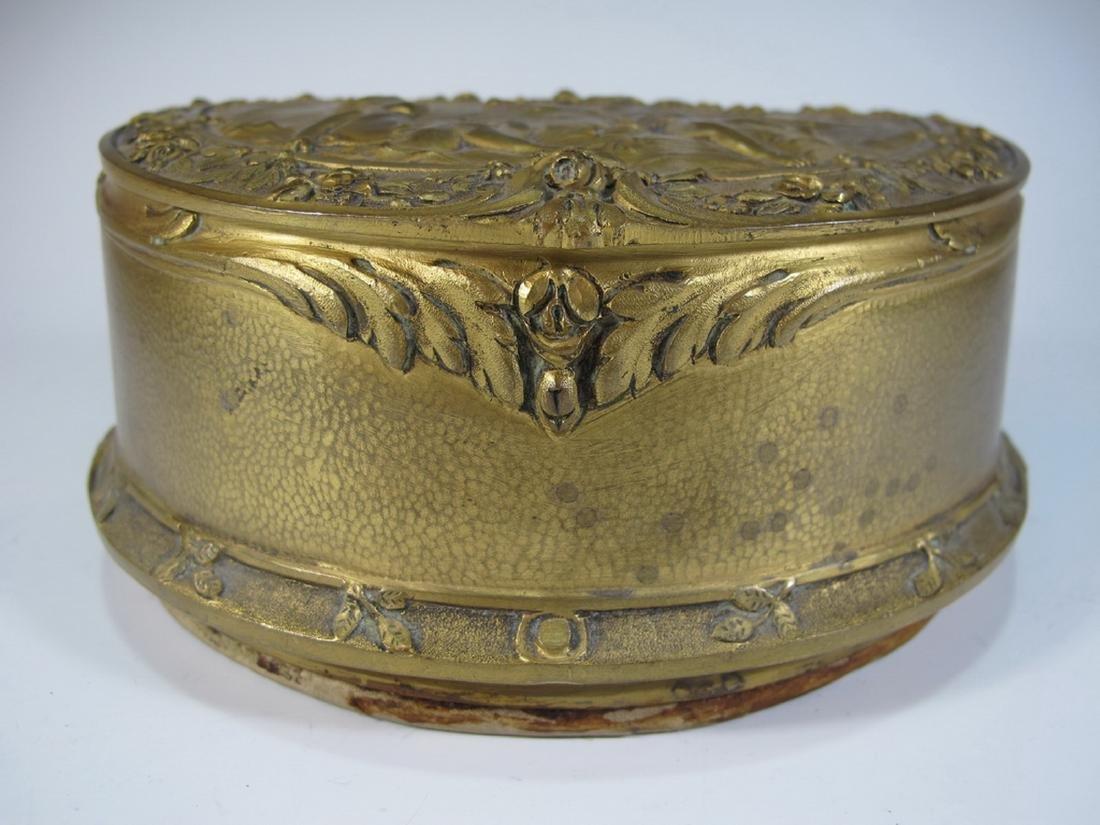 Antique French bronze jewelry box - 4