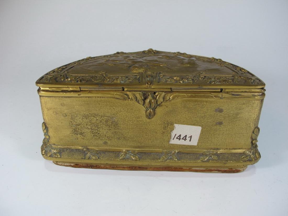 Antique French bronze jewelry box - 6
