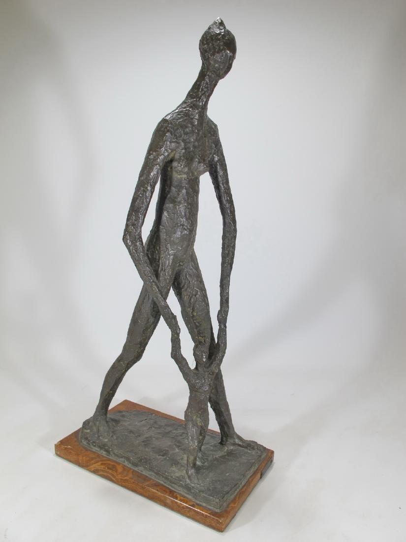 Signed A. MONTI modern bronze statue