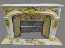 Gorgeous Palace onyx ormolu fireplace