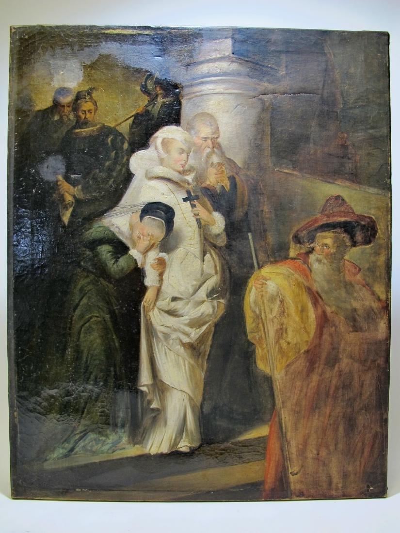 F. GIRADET (XIX-XX) oil on canvas painting