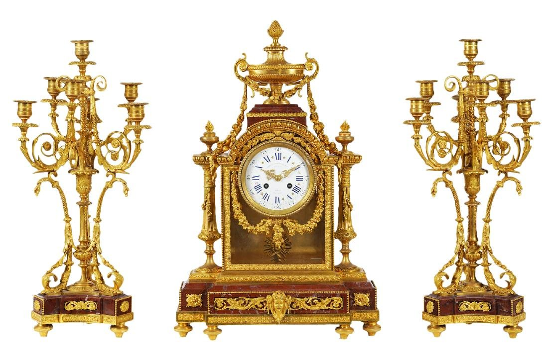 Amazing Charpentier, Paris clock set
