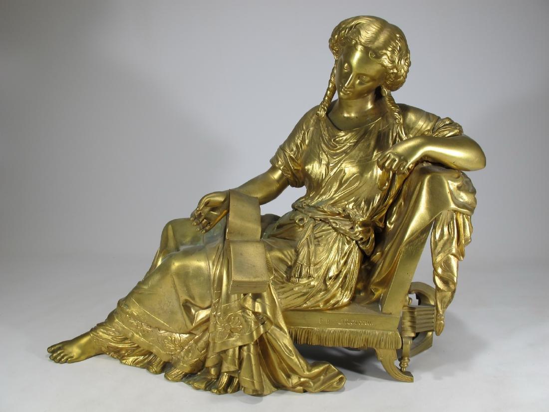 Signed MOREAU antique French bronze sculpture
