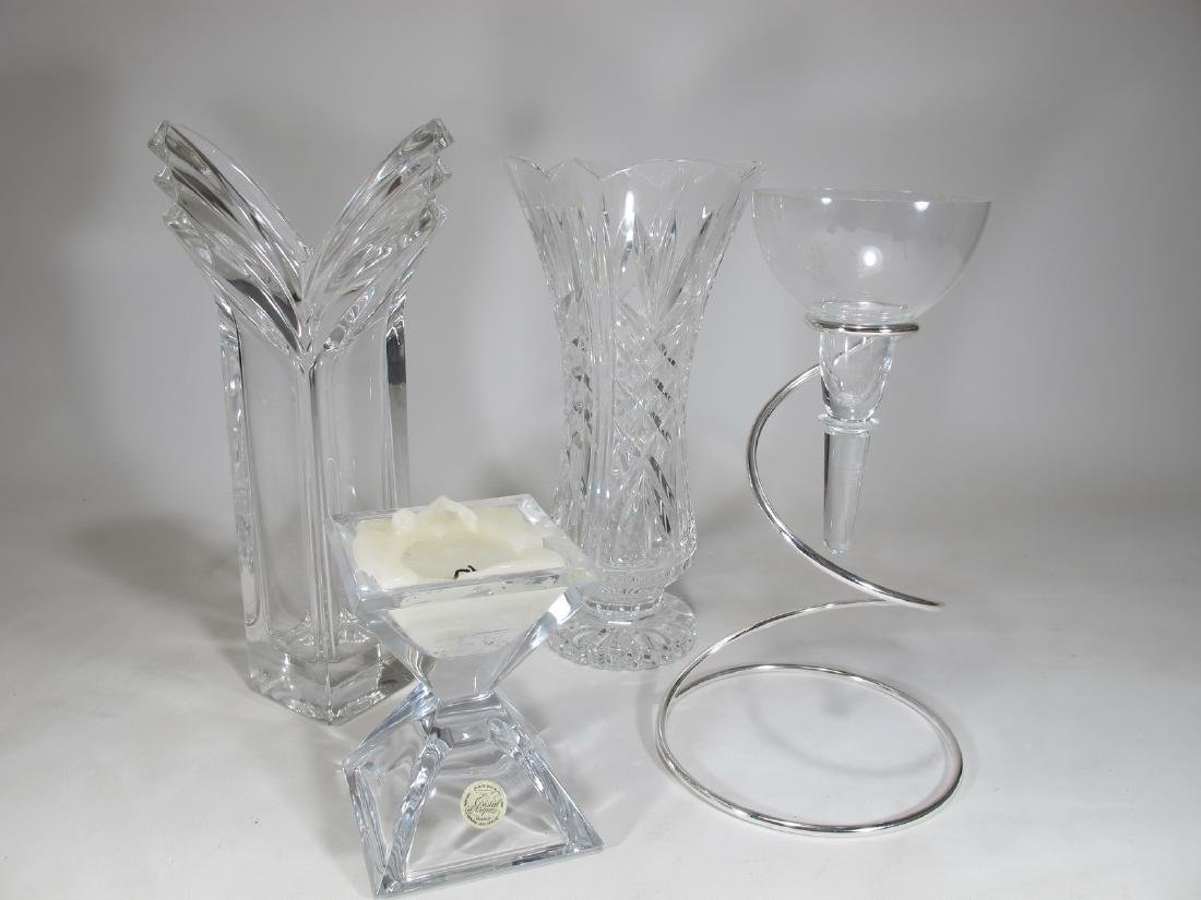 Lot of 4 Rosenthal, Waterford & others crystal pieces
