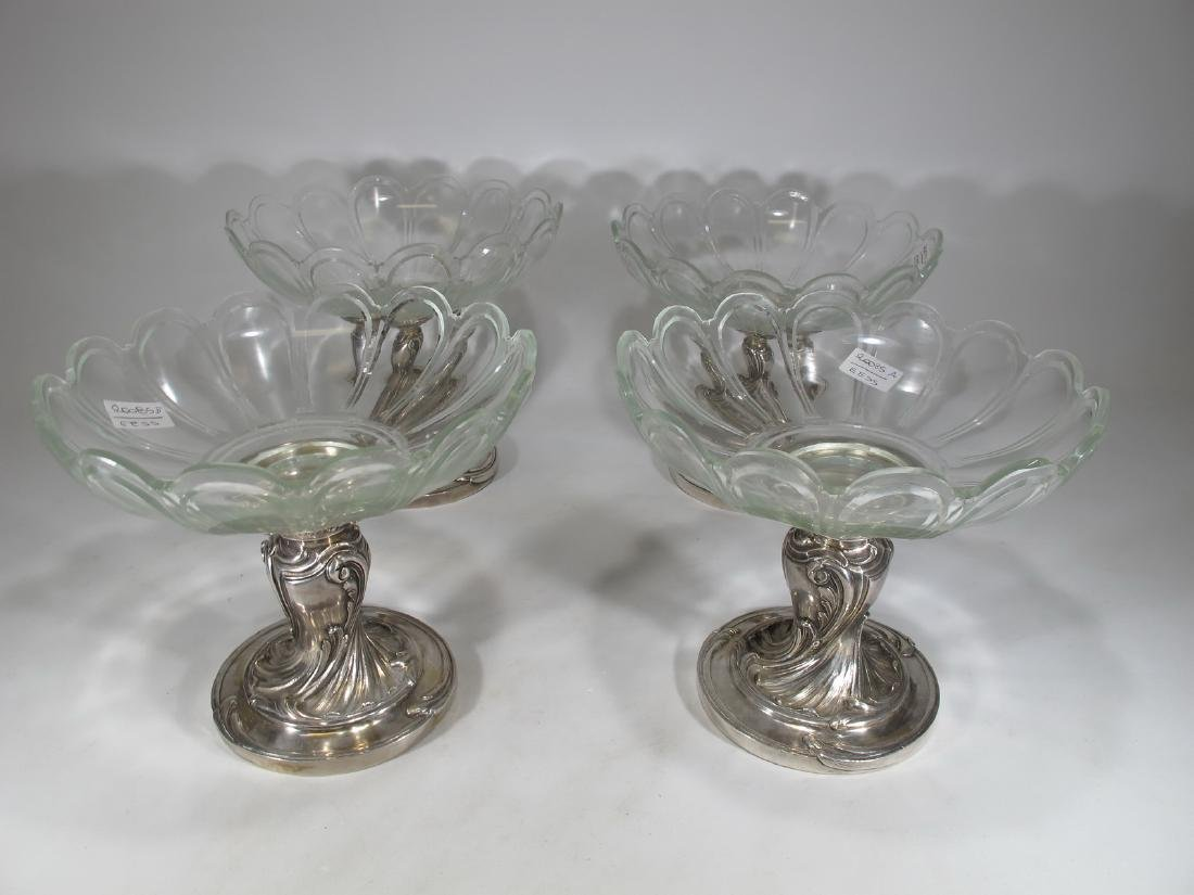 Antique French Christofle set of 4 silverplate
