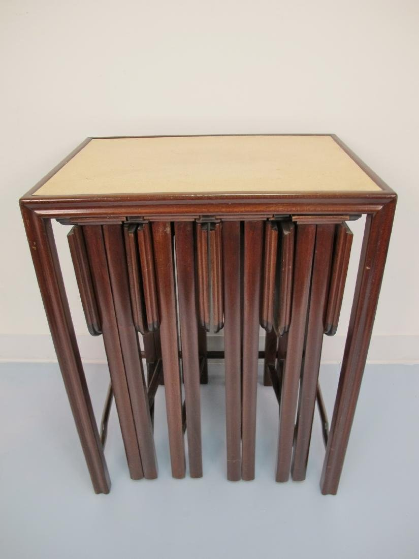 Vintage French set of 5 side tables in 1
