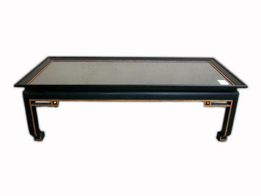 Vintage Oriental black gilded coffee table