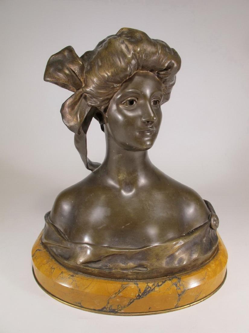 Georges VAN DER STRAETEN (1856-1928) bronze bust